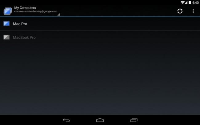 Chrome Remote Desktop aplicación