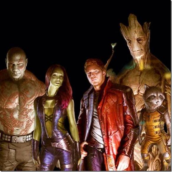 Imagen de los personajes de Guardianes de la Galaxia, un ade las próximas películas de Marvel
