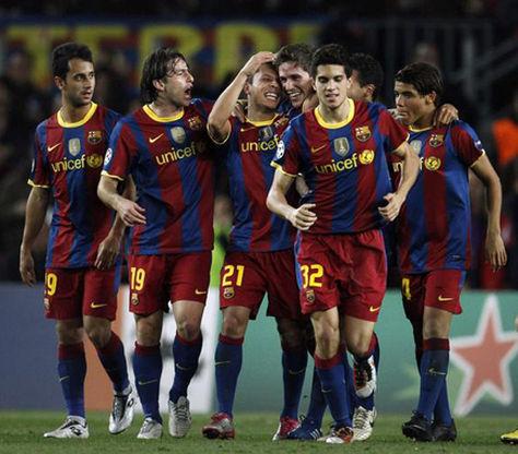 Jugadores de la cantera del Barcelona en el torneo de reservas en España. Foto: blog.lloretdemar.org