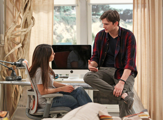 Ashton Kutcher, Mila Kunis, Two and a half Men