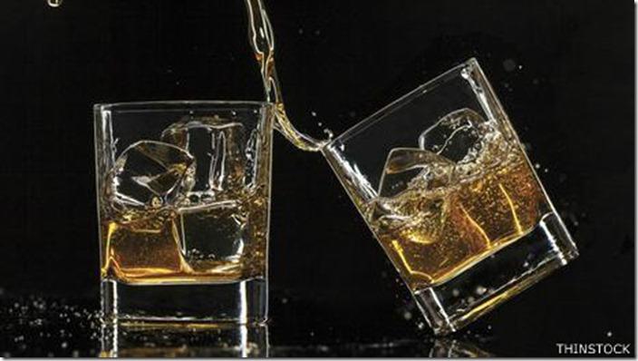 El whisky contiene altos niveles de congéneres, que pueden producir peores