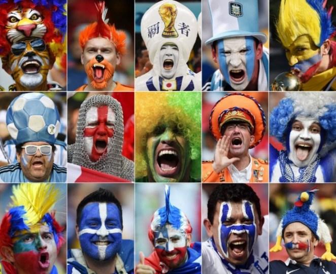 Hinchas celebran disfrazados y con emoción los goles de sus equipos