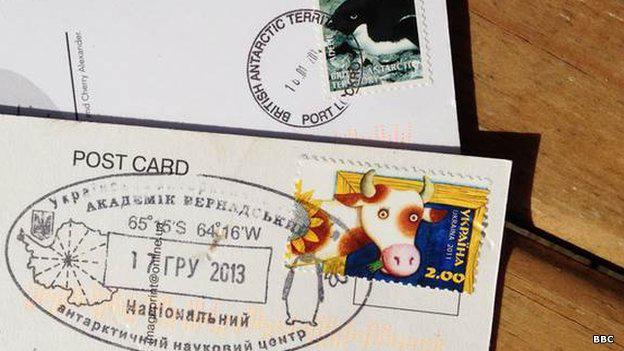 Postal ucraniana en el Polo Sur