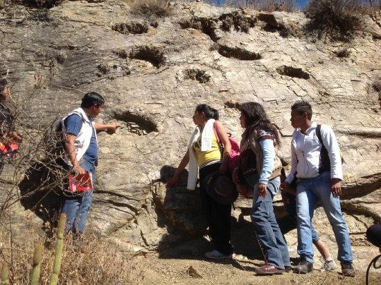 ESTUDIOS. La prospección de huellas de dinosaurio en el municipio de Sucre.