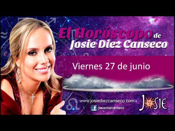 Josie Diez Canseco: Horóscopo del viernes 27 de junio (VIDEO)
