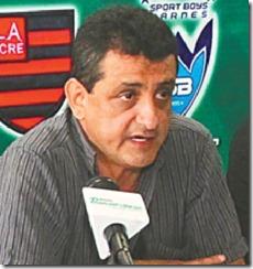 El Consejo Superior de la Asociación Nacional de Fútbol se realizó en Santa Cruz. Foto, Jorge Justiniano, presidente de la ANF