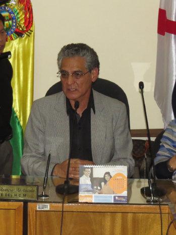 AUTORIDAD. El concejal Germán Gutiérrez.