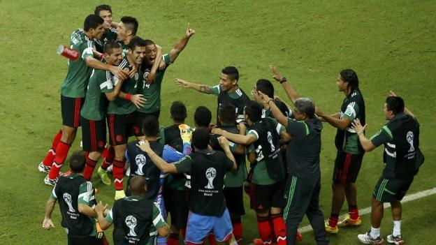 M�xico venci� a 1-3 a Croacia este lunes con lo que sell� su pase a los octavos de final de Brasil 2014