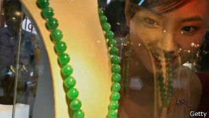 Collar de jade.