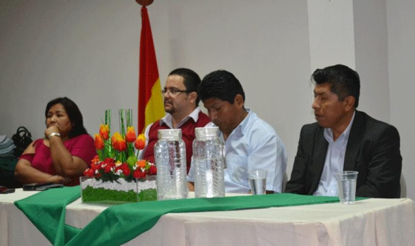 Acto de entrega de nuevos ítems en la Caja Petrolera de Salud.