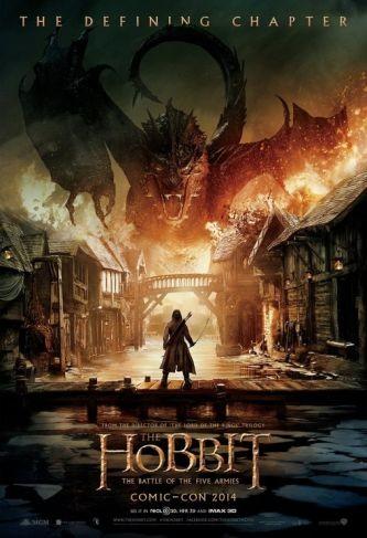 Cartel de la tercera película de El Hobbit