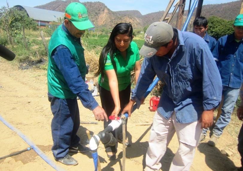 Se instala sistema de riego por goteo para producción de sandía