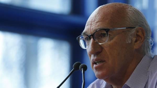 Bianchi en una de las tantas conferencias de prensa que dio en estos 20 meses. /Gustavo Ortiz