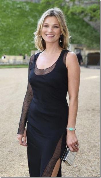 Kate Moss, a su llegada a una cena convocada por el príncipe Guillermo en el palacio de Windsor, en mayo.