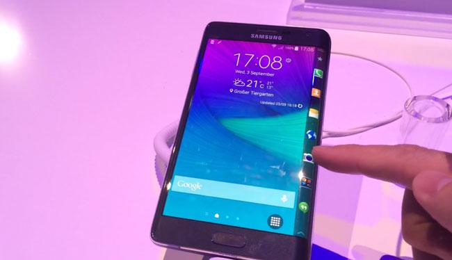 Pantalla del Samsung Galaxy Note Edge