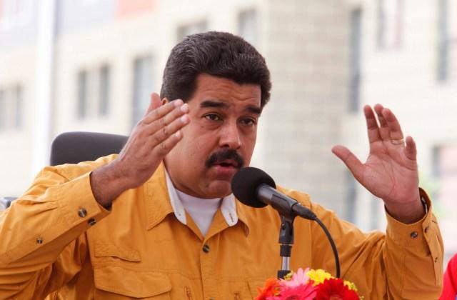 El presidente de Venezuela, Nicolás Maduro, habla en una ceremonia en Caracas
