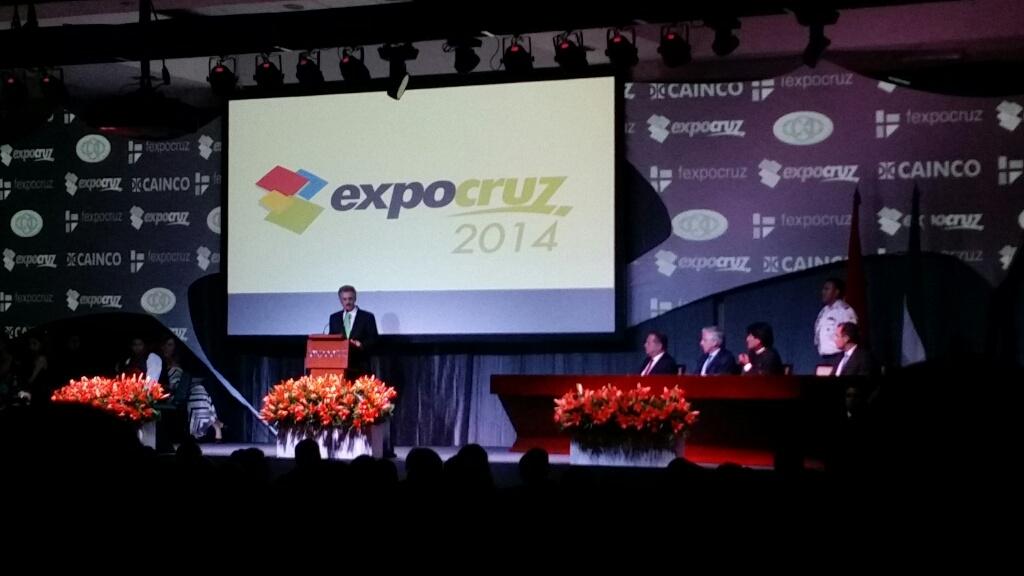 Apertura Oficial Expocruz 2014, Julio Roda, presidente Cao