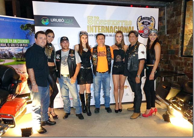 Organizadores del 5to. Encuentro Internacional junto a las Chicas Harley