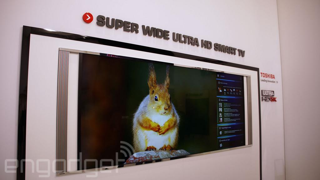 Toshiba imagina el futuro con una TV 5K de 105 pulgadas y formato 21:9