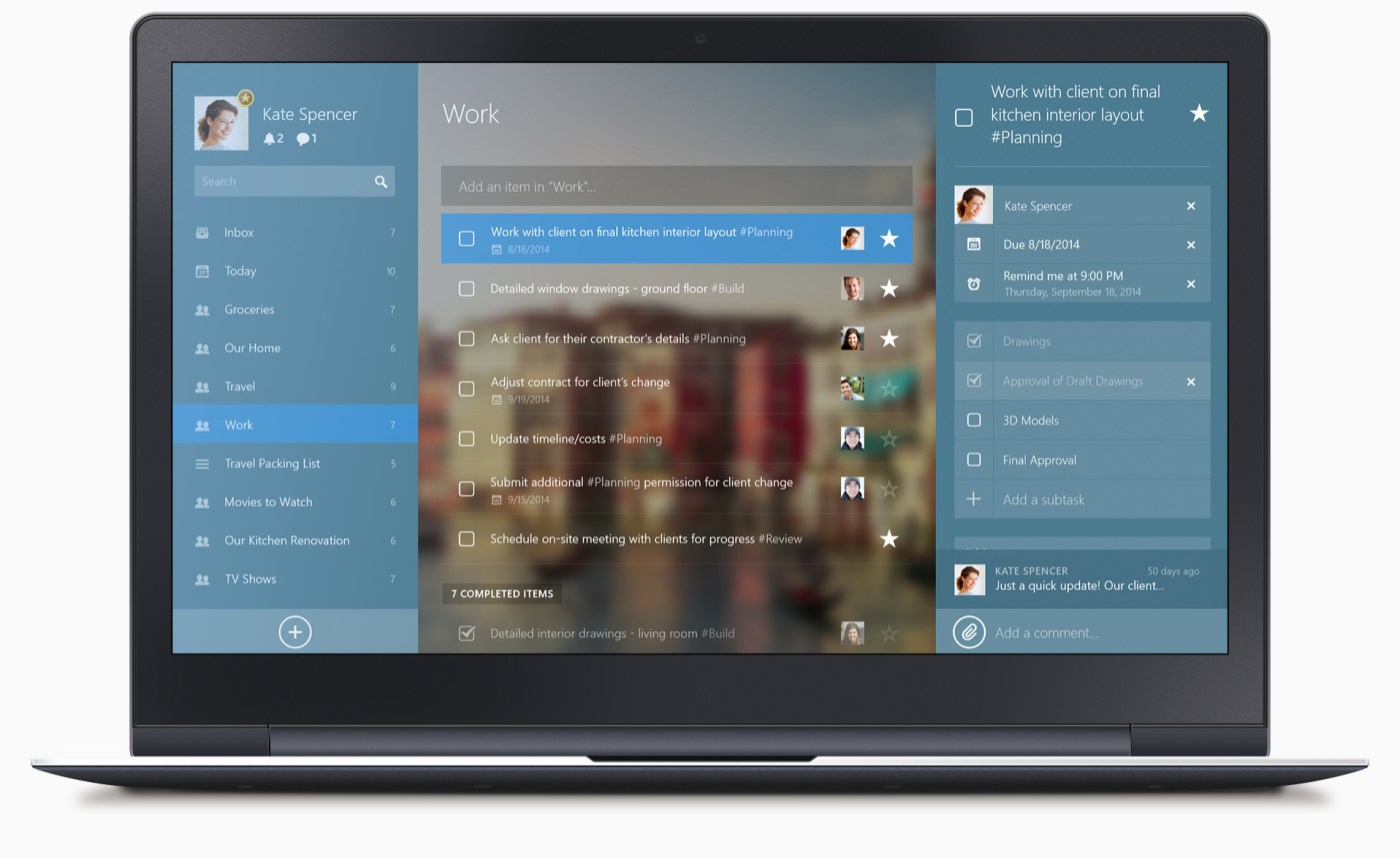 wunderlist para windows 8