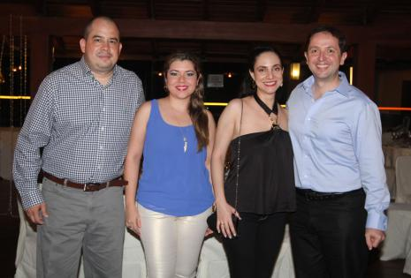Freddy Vargas, Silvana Flores, Martha López y Rafael Poggi