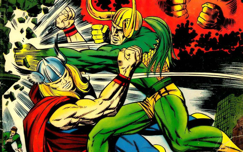 Jack-Kirby-draws-Thor-and-Loki