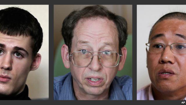 Mathew Miller, Jeffrey Fowle y Kenneth Bae