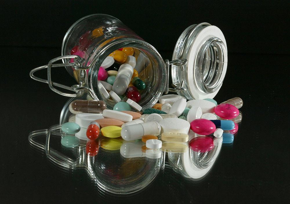Las pastillas de antibióticos