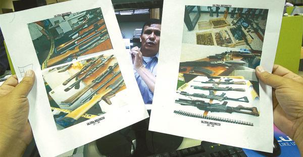 Para  Germán Cardona este armamento fue retirado de la Octava División para el caso terrorismo