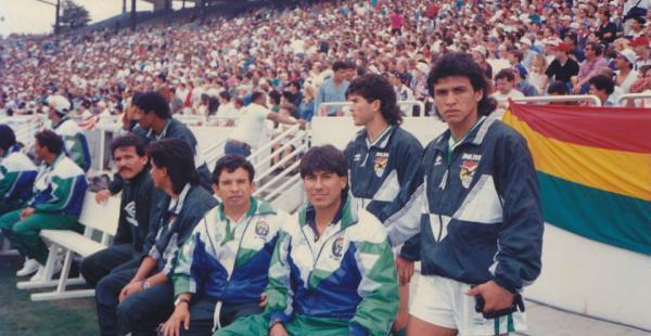 Rodríguez formó parte de la delegación boliviana que estuvo en el Mundial de EEUU de 1994