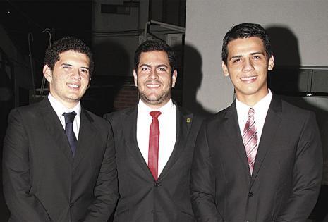 Joaquín Martínez, Luis Sergio Calvimontes y Hugo Andrés López dejan sus cargos en buenas manos. Son los salientes