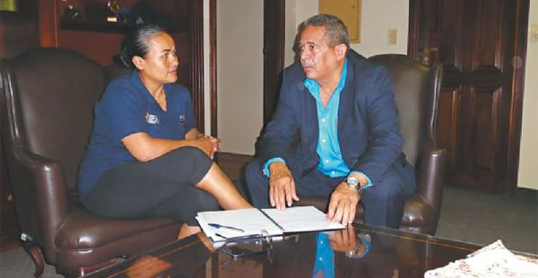 Manuel Rondón se reunió con Leonor Ribera, de la federación nacional, en Santa Cruz