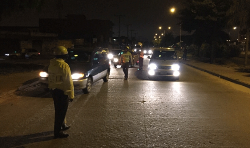 Tránsito arrestó a 23 conductores ebrios