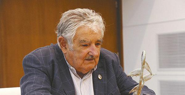José 'Pepe' Mujica, durante la entrevista que sostuvo con EL DEBER, en noviembre de 2014 tras ser elegido Personaje del Año 2014