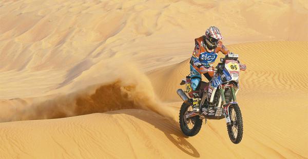 ESPECIALIDAD.  Por su técnica, Juan Carlos Salvatierra rinde mejor en los terrenos con dunas