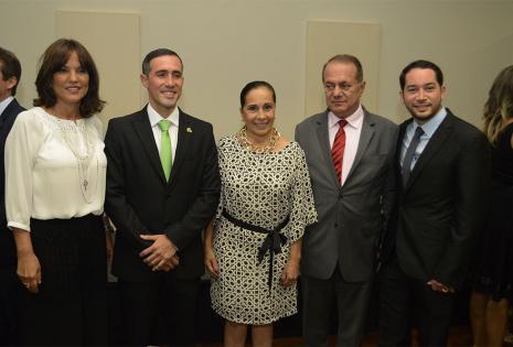 La alcaldesa Desirée Bravo, Óscar Paz, la gobernadora Ruth Lozada, el presidente de la fepsc Luis Fernando Barbery Y Rafael Paz