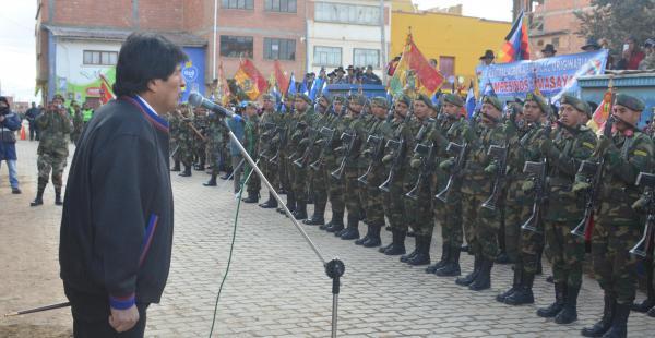 Evo Morales estuvo en Laja inaugurando obras