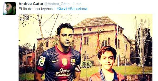 """""""El fin de una leyenda"""", posteó Andrea Gatto en cuenta de Twitter"""