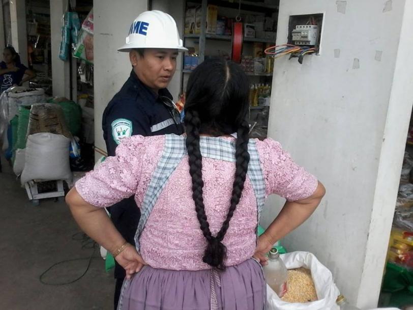 Realizan inspección de riesgo en el mercado Urkupiña