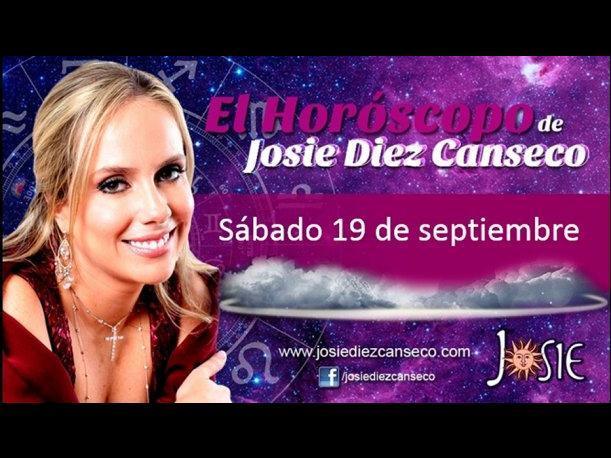 Josie Diez Canseco: Horóscopo del sábado 19 de septiembre (VIDEO)