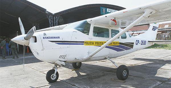 La avioneta donde se halló 213 kilos de cocaína y proyectiles