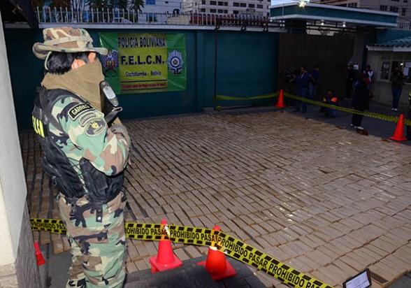 Incautación de 2,5 toneladas de marihuana en Tiraque Cochabamba, en agosto pasado. - Daniel  James Los Tiempos