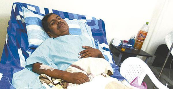 Florencio Laime Carrizo en una clínica dijo que no pudo controlar         el vehículo porque se desvaneció por su enfermedad