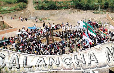 Protesta. Pobladores de Sucre exigen castigo para los responsables del conflicto en La Calancha, en 2008.