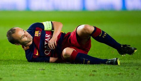 Andrés Iniesta, otra de las bajas del Barcelona en menos de tres meses. Foto: Getty Images
