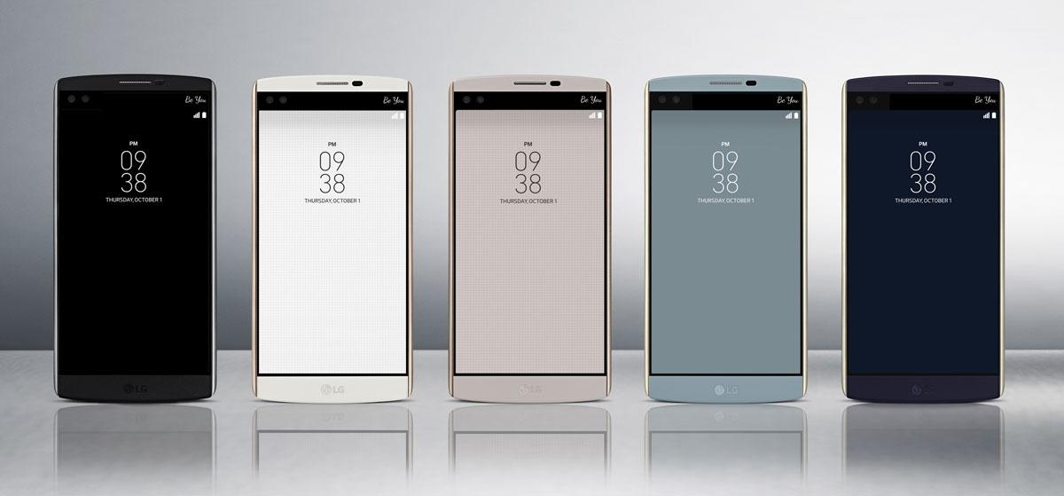 LG presenta el V10, su teléfono con doble pantalla y doble cámara selfie