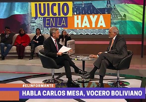 Entrevista a Carlos Mesa en TVN, en Santiago de Chile, el martes pasado. -   Abi Agencia