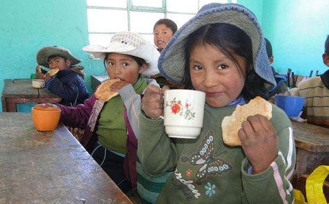 Niños de la localidad de Huarimarca