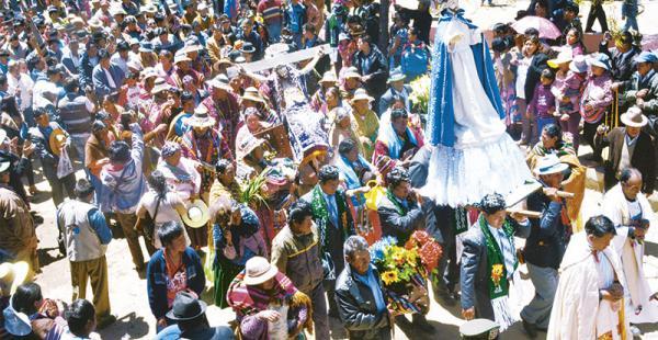 Los pobladores de Orinoca se movilizaron por su patrono, San Francisco de Asís, el mismo que tiene como referente el papa Francisco