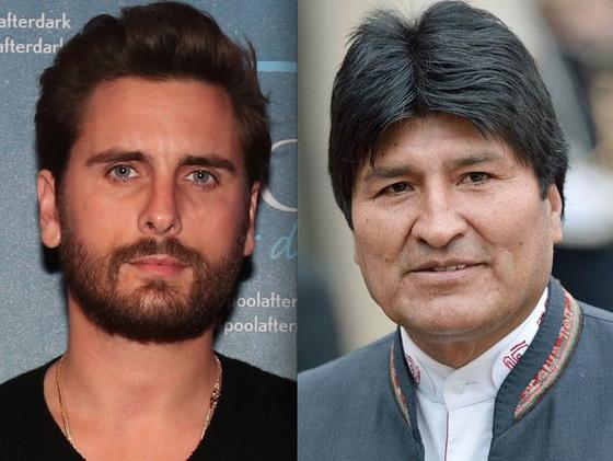 Scott Disick, Evo Morales